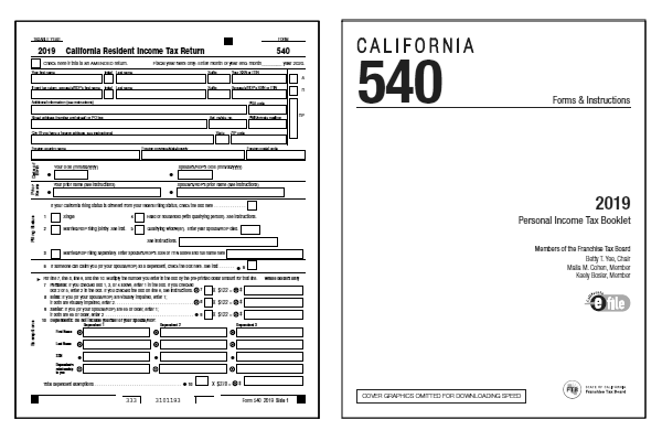 California Tax Forms 2019 : Printable State CA 540 Form ...