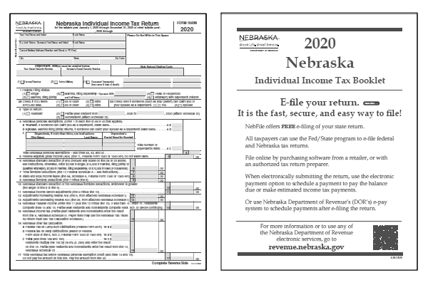 Nebraska Tax Forms And Instructions For 2020 Form 1040n