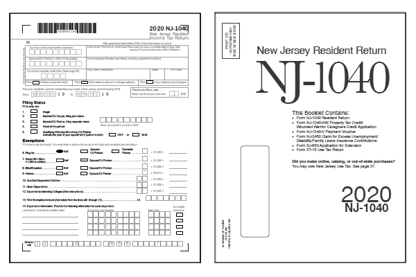 New Jersey Tax Forms 2020 Printable State Nj 1040 Form And Nj 1040 Instructions