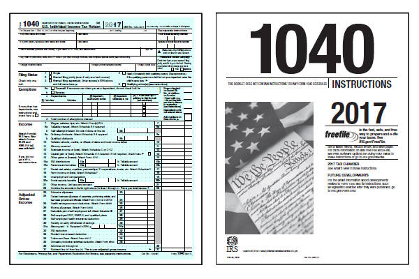2017 Federal Income Tax Forms