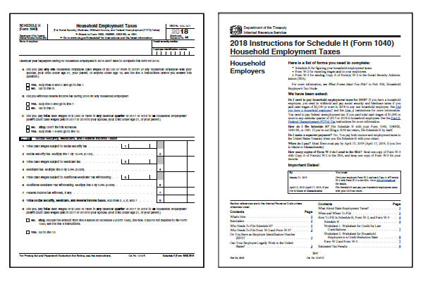 2018 IRS Schedule H Form and Instructions