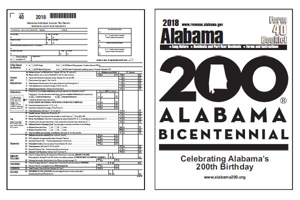 Alabama Tax Forms 2018 Printable Alabama State Form 40 40a And