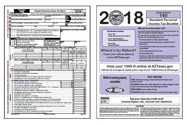 image about Printable Colorado Income Tax Form 104 titled Arizona Tax Varieties 2018 : Printable Arizona Nation AZ 140 140A
