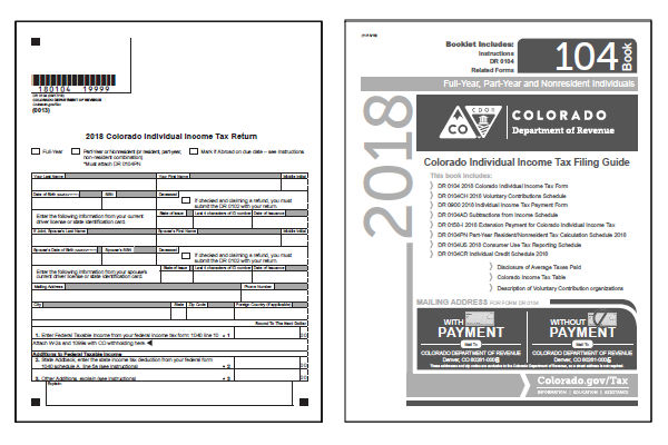 colorado tax forms 2018 : printable colorado state tax form 104 and