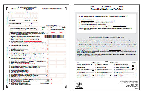 Delaware Tax Forms 2018 : Printable Delaware State Tax Form