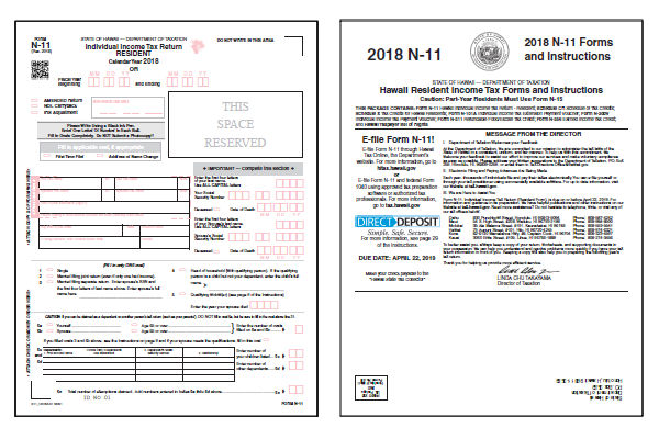 2018 Hawaii N-11 Form and Instructions