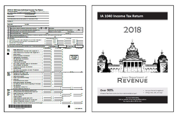 Iowa 2018 IA 1040 Form and Instructions