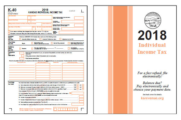 2018 Kansas K-40 Form and Instructions