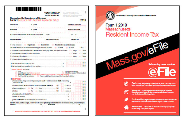 massachusetts tax forms 2018 : printable massachusetts state tax