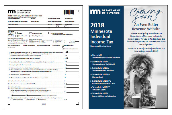 Minnesota 2018 MN M1 Form and Instructions