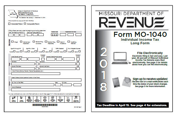 Missouri Tax Forms 2018 Printable State Mo 1040 Form And Mo 1040