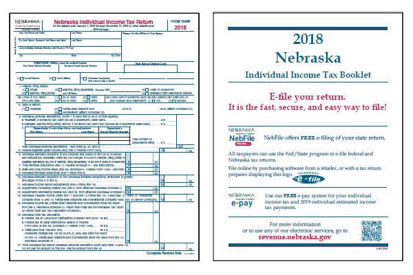 Nebraska Tax Forms 2018 : Printable State Nebraska 1040N