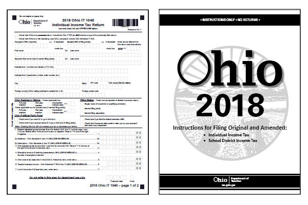 Ohio Tax Forms 2018 Printable State Ohio It 1040 Form And It 1040
