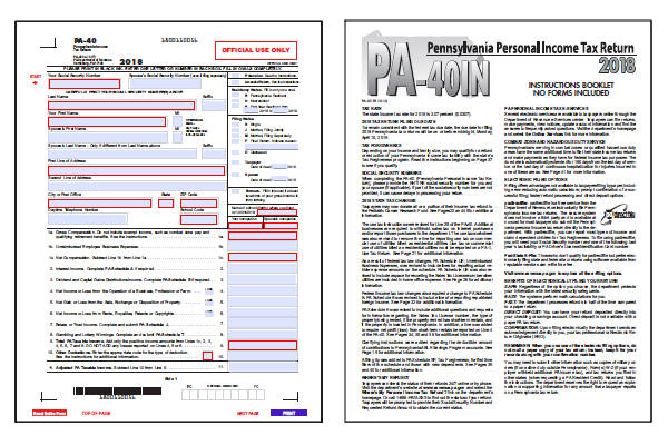 pennsylvania state income tax forms 2015 printable
