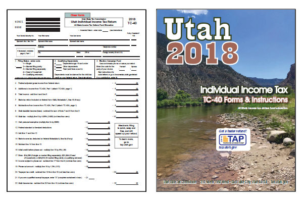 2018 Utah TC-40 Form and Instructions