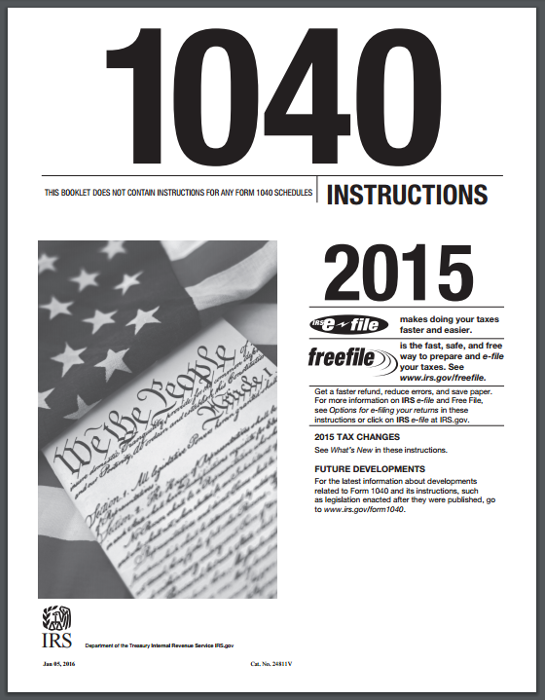 2015 Form 1040 Instructions
