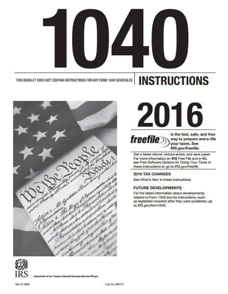 2016 Form 1040 Instructions