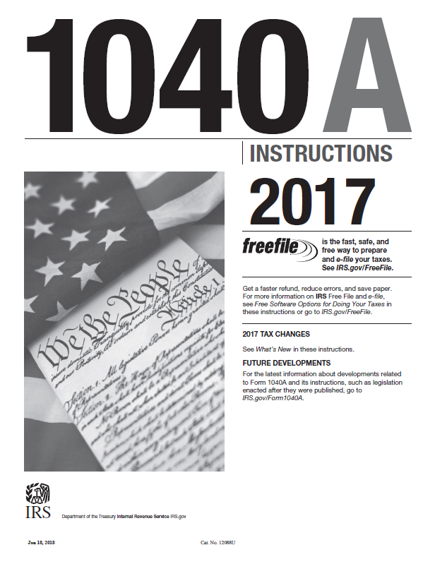 2017 Form 1040a Instructions