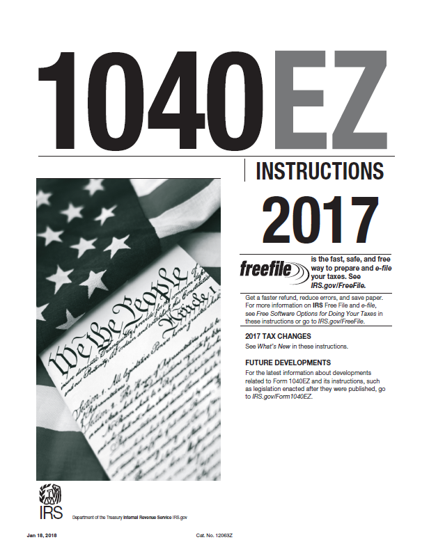 2017 Form 1040ez Instructions